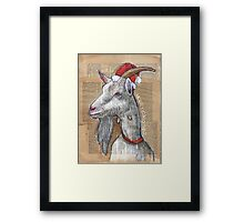 Christmas Goat Framed Print
