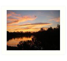 Beautiful Sunset Over Bayou Liberty Art Print