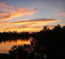 Beautiful Sunset Over Bayou Liberty by Wanda  Mascari