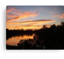 Beautiful Sunset Over Bayou Liberty Canvas Print