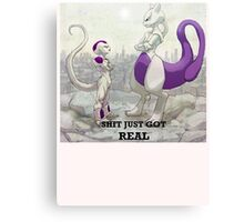Mewtwo vs Freeza Canvas Print