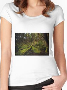 Tasmanian rainforest undergrowth Women's Fitted Scoop T-Shirt
