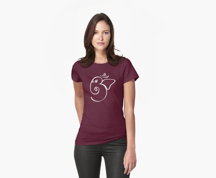 Ganesh Om Yoga T-shirt by dropSoul