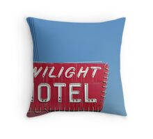 Twilight Motel Throw Pillow