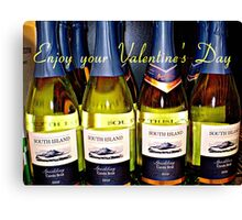 *A fun day for St.Valentine with Sparkling Wine* Canvas Print