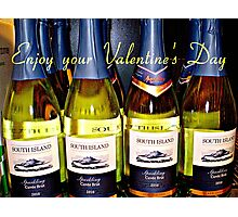 *A fun day for St.Valentine with Sparkling Wine* Photographic Print