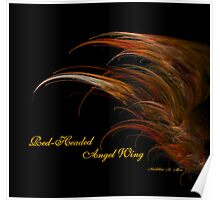 Red-Headed Angel Wing Poster