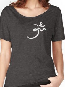 Stylized Om Yoga T-shirt Women's Relaxed Fit T-Shirt