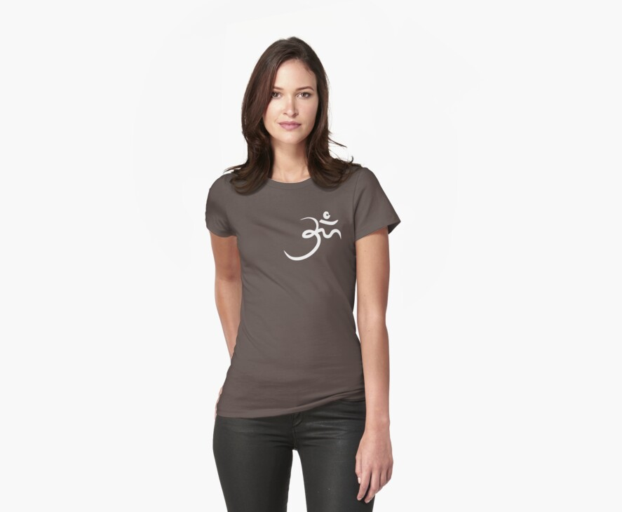 Stylized Om Yoga T-shirt by dropSoul