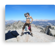 Standing on top of the World Canvas Print