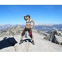 Standing on top of the World Photographic Print