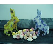 Easter egg lovin' bunnies Photographic Print