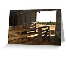 Inside Shearing Shed Greeting Card