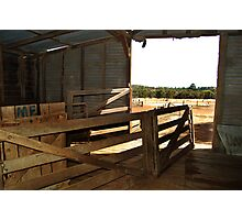 Inside Shearing Shed Photographic Print