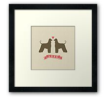 Afghan Hounds in Love Framed Print