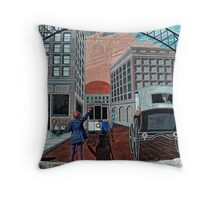 Stop the Train! Throw Pillow