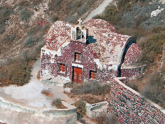 Santorini Church by Tom Gomez