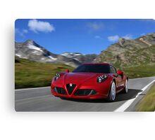 Alfa Romeo 4C Canvas Print