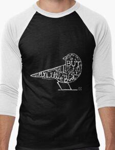 My Little Bird Typography Ed Men's Baseball ¾ T-Shirt