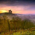 Corfe Castle sunrise by DualAspect