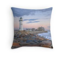 Morning Light on Scituate Harbor - Scituate, MA Throw Pillow
