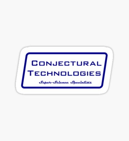 Conjectural Technologies (blue) Sticker