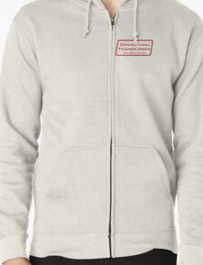 Conjectural Technologies (red) Zipped Hoodie