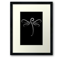 Swirly Dragonfly Tee (for dark Tee's) Framed Print