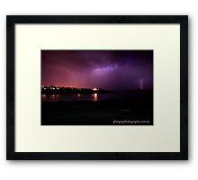 lightning... Framed Print