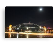 harbour bridge at night... Canvas Print