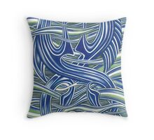 Pictish Seahorses Throw Pillow