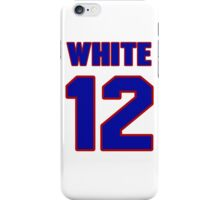 National baseball player Bill White jersey 12 iPhone Case/Skin