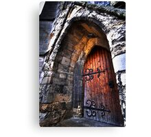 warm welcome in the house of god Canvas Print