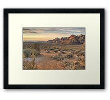 Sunrise at Red Rock Framed Print