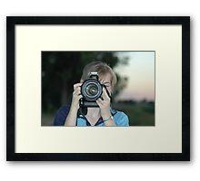 photo fight Framed Print