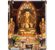 Buddha statue and relics at Giant Wild Goose Pagoda in Xi'an art photo print iPad Case/Skin