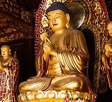 Buddha statue at Big Wild Goose Pagoda in China art photo print by ArtNudePhotos