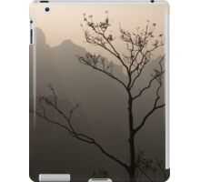 Tree silhouette against mountan landscape art photo print iPad Case/Skin