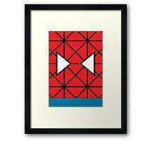 Minimal Spiderman Framed Print