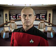 Pensive Picard Photographic Print