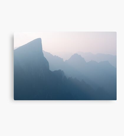 Foggy mountan landscape scenery in Zhangjiajie China art photo print Canvas Print
