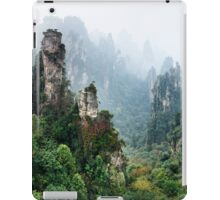 Mountains Zhangjiajie National Forest Park panoramic scenery art photo print iPad Case/Skin