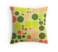 Retro Polka Dot Pattern #3 Throw Pillow