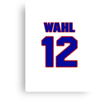 National baseball player Kermit Wahl jersey 12 Canvas Print