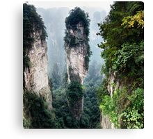 Mountain spire in Zhangjiajie National Forest Park China art photo print Canvas Print