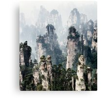 Floating mountains Zhangjiajie National Forest Park art photo print Canvas Print