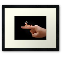 (✿◠‿◠)  (◕‿◕✿) I Held You Right On The Tip Of My Finger PICTURE ,PILLOWS AND OR TOTE BAG (✿◠‿◠)  (◕‿◕✿) Framed Print