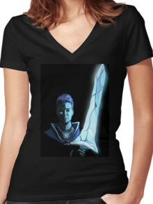 Ice Cold Sword Women's Fitted V-Neck T-Shirt