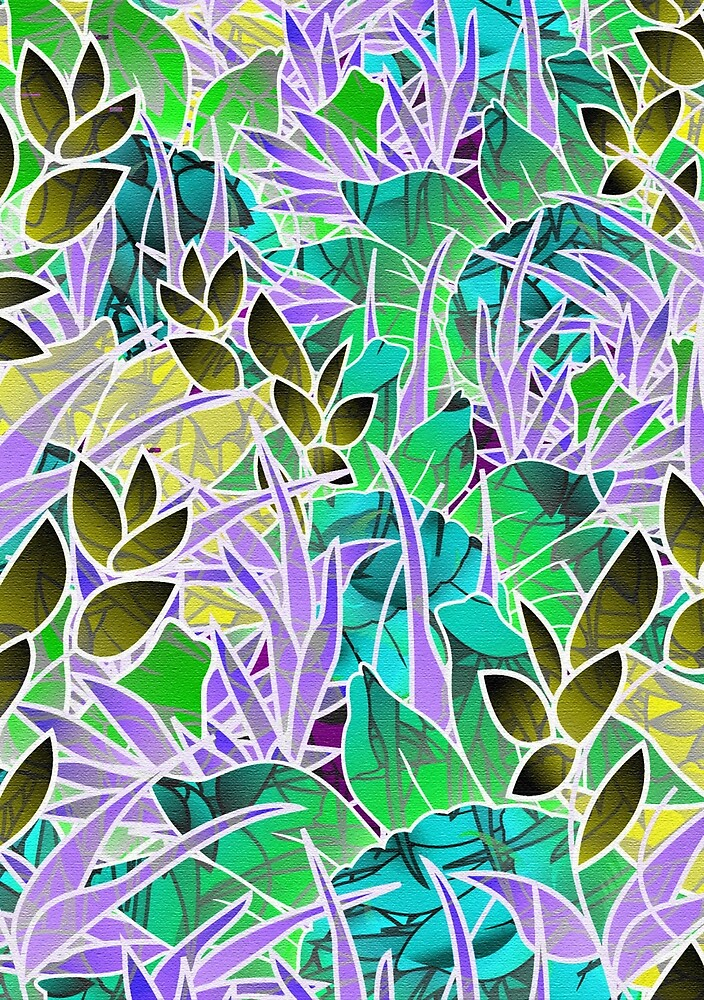 Floral Abstract Artwork by Medusa81