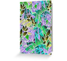 Floral Abstract Artwork Greeting Card